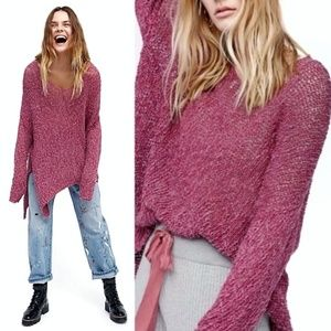 FREE PEOPLE Vertigo oversized v-neck sweater Sz M